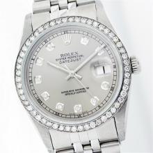 Rolex Stainless Steel 1.00 ctw Diamond DateJust Watch