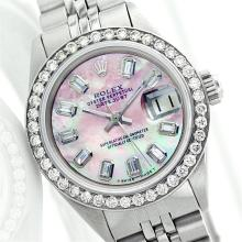 Rolex Stainless Steel 1.00 ctw Diamond DateJust Ladies Watch