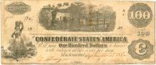 $100 1862 Richmond Virginia Confederate States of America Large Note