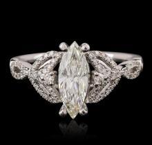 14KT White Gold 1.16 ctw Diamond Ring