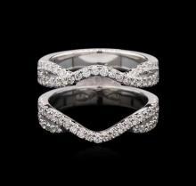 0.74 ctw Diamond Wedding Ring Guard - 18KT White Gold