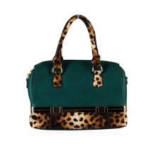 Green and Leopard Handbag