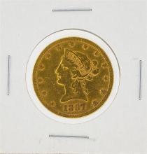 1887-S $10 VF Liberty Head Eagle Gold Coin