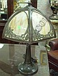 Bradley & Hubbard Slag Glass Lamp