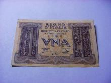 ITALY 1 LIRE BANKNOTE