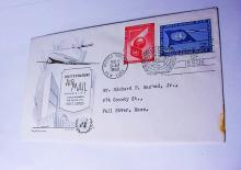 1953 UNITED NATIONS AIR MAIL COVER