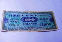 1944 FRANCE MILITARY BANKNOTE