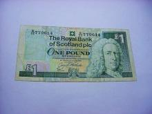1991 ROYAL BANK OF SCOTLAND POUND BANKNOTE