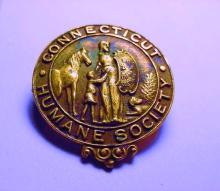EARLY CONNECTICUT HUMANE SOCIETY PIN