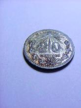 1920 MEXICO SILVER 20 CENTAVOS