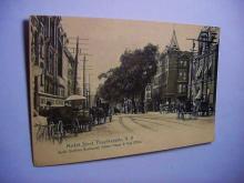 VINTAGE MARKET STREET, POUGHKEEPSIE N.Y. POST CARD