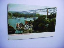 VINTAGE POUGHKEEPSIE BRIDGE, POUGHKEEPSIE N.Y. POST CARD
