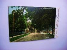 VINTAGE HYDE PARK ROAD, POUGHKEEPSIE N.Y. POST CARD