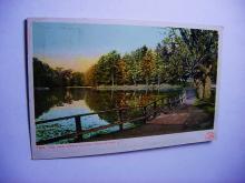 VINTAGE THE LAKE VASSAR COLLEGE , POUGHKEEPSIE N.Y. POST CARD