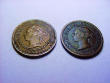 1888 & 1899 CANADA LARGE CENTS