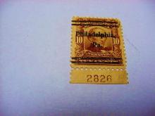 1902 WEBSTER PHILADELPHIA PRE CANCEL PLATE NUMBER SINGLE