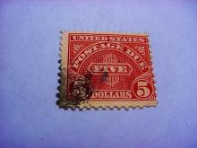 EARLY U.S. $5 POSTAGE DUE STAMP