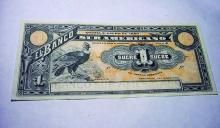 1920 ECUADOR 1 SUCRE BANKNOTE