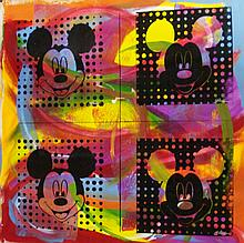 FOUR MICKEY'S by Gail Rodgers - One-of-a-Kind Hand-Pulled Silkscreen
