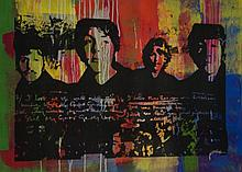 THE BEATLES by Gail Rodgers - One-of-a-Kind Hand-Pulled Silkscreen