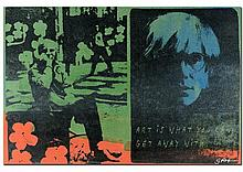 ANDY WARHOL by Gail Rodgers - One-of-a-Kind Hand-Pulled Silkscreen