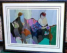 Untitled (Two Women Seated) by Itzchak Tarkay