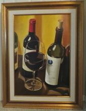 UNCORKED is and Original Oil on Canvas by Thomas Stiltz