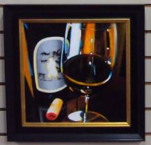 SILVER OAK by LONA is a framed Original Acrylic on Canvas