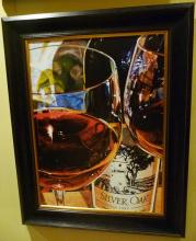 SILVER OAK by LONA is a Framed Limited Edition Giclee on Canvas