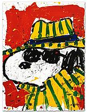 IT'S THE HAT THAT MAKES THE DUDE by Tom EVERHART.  Framed Limited Edition Hand Pulled Original Lithograph.