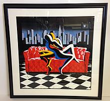 AMERICAN DREAM by Mark KOSTABI framed in Contemporary Black Frame with white mat