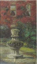 19th Century English School  ''The Sundial,'' attractive landscape with scu