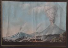 Early 19th Century Neapolitan School  Gouache: ''Genere d'22 Blre. 1822,''
