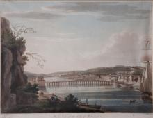 T.S. Roberts  ''West View of the City of Waterford,'' a coloured aquatint b