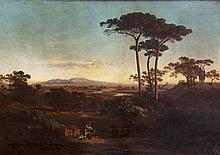 William Davison, British School (1808 - 1870)  ''A very fine panoramic Ital