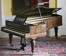 A semi- grand Piano, by John Broadwood & Sons, London in assimilated rosewo