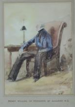 Henry Graves  Watercolour: ''Portrait of Henry William, 1st Marquess of Ang