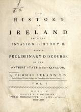 Leland (Thos.) The History of Ireland, 3 vols. 4to D. 1773. First Dublin Ed