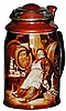 Lenox Porcelain Monk Stein w Wonderful Mixed Metal