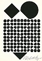 VASARELY, VIKTOR. Photograph Signed - (SP)