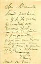 RENOIR, PIERRE AUGUSTE. Autograph Letter Signed - (ALS)