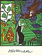 KOKOSCHKA, OSKAR. Reproduction Artwork Signed - (REPS)