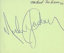 BBC AUTOGRAPH COLLECTION - INCLUDING MICHAEL JACKSON. Collection - (COL)