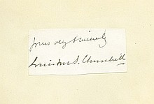 AUTOGRAPH ALBUM - INCL. W.S. CHURCHILL. Collection - (COL)