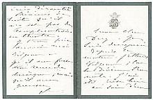 BERNHARDT, SARAH. Autograph Letter Signed - (ALS)
