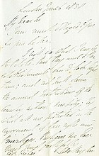 DUKE OF WELLINGTON. Autograph Letter Signed - (ALS)