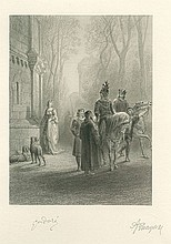 DORE, GUSTAVE & ALFRED LORD TENNYSON. Limited Edition Print - (PRINT)