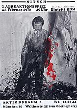NITSCH, HERMANNN - VIENNESE AKTIONISTS MEM A rare original poster,