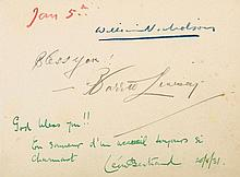 NICHOLSON, WILLIAM COL An autograph book of signatures collected from diners...