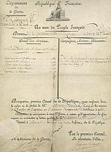 FRENCH DOCUMENTS - INCL. SIGNED NAPOLEON BONAPARTE COL A small collection of...